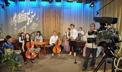 Ve studiu TV Noe, Ostrava.